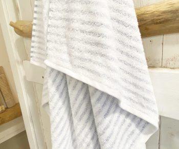 מגבת רחצה פסים אפורים