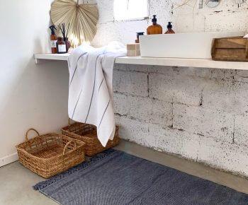 שטיח סטונווש כחול