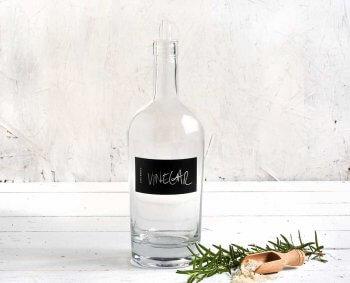 בקבוק זכוכית לחומץ עם מדבקה משתנה