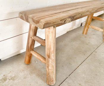 ספסל עץ גושני