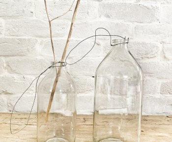 בקבוק זכוכית לנוי