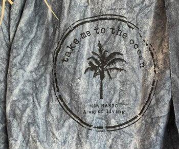 מגבת חוף ענקית סטונווש פחם