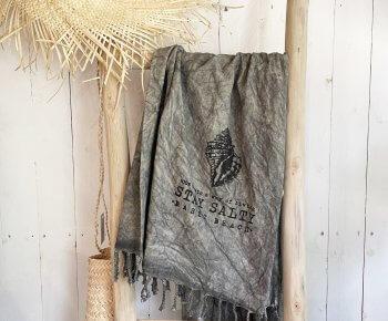 מגבת חוף Basic סטונווש פחם