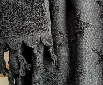 מגבת רחצה כוכבים פחם