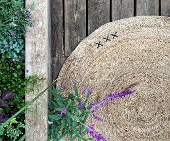 שטיח X עגול טבעי