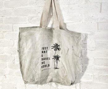 תיק קניות Basic סטונווש חול