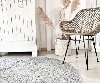 שטיח סרוג עגול