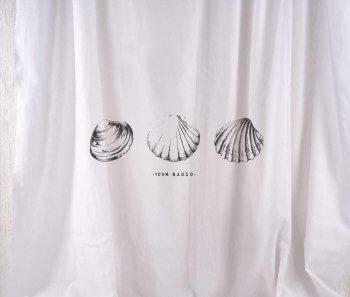 וילון פשתן Sea Shells ארוך
