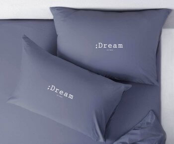 זוג ציפיות 'חלום' כחול מעושן